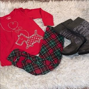 Christmas leggings & top outfit